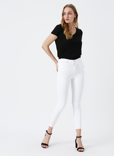 Vero Moda Vero Moda Denim Pantolon Beyaz